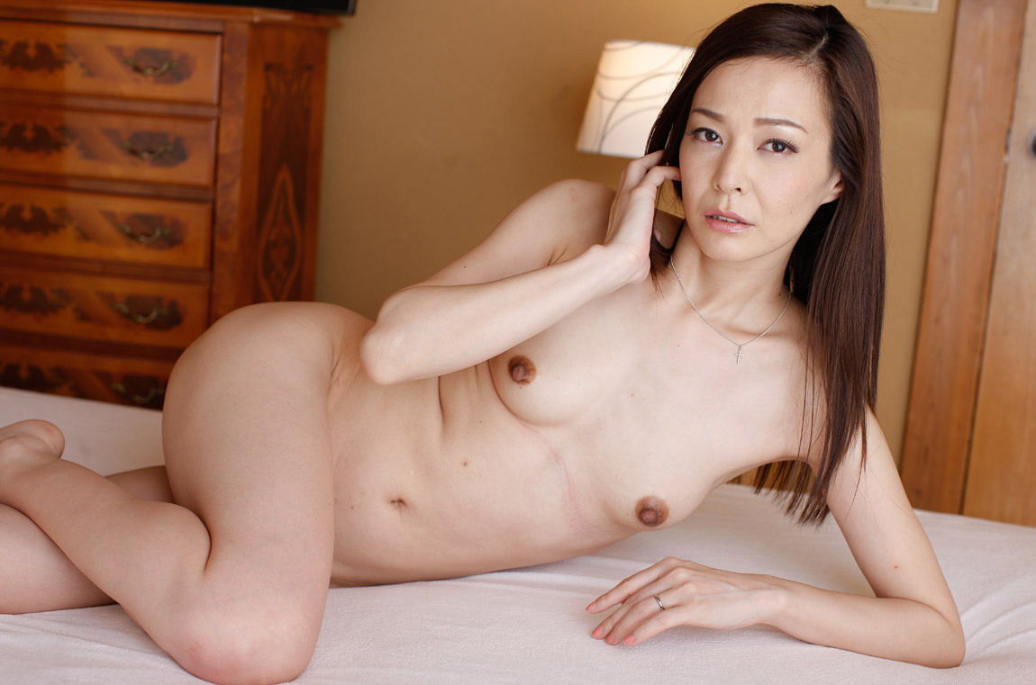 Asian MILF on Bed
