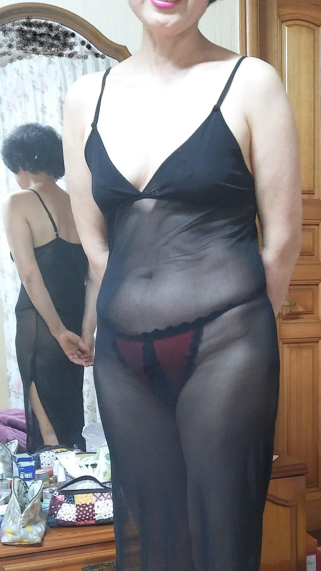 Asian GILF in See-Through Nightie [Submission]