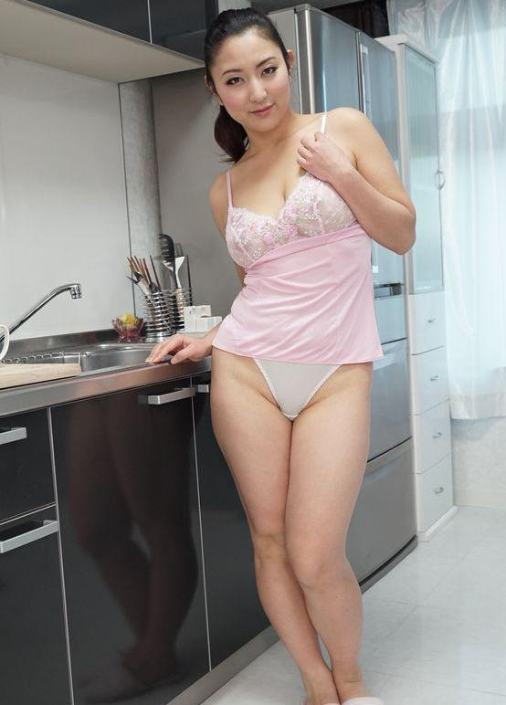 Mature Asian Housewife Posing in Sexy Lingerie