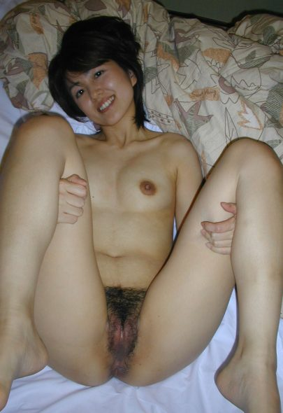 Hairy Asian MILF Spreading