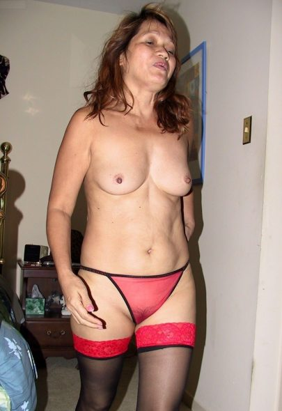 Mature Asian Woman in Red Panties